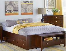 pulse cherry platform bed with storage from ne