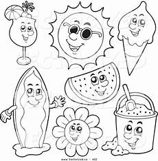 Kostenlose Malvorlagen Sommer Coloring Pages Of Summer Season Free Printables