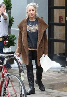 helen mirren 70 dons tight leather pants and oversize