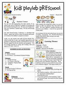 Examples Of Newsletters For Parents From Teachers 13 Printable Preschool Newsletter Templates Free Word