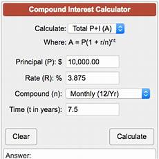 Monthly Compound Interest Formula Compound Interest Calculator