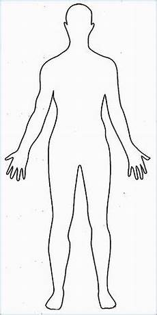 Human Outline Human Body Outline For Kids Fun Preschool Ideas My