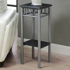 silver accent table monarch accent table black silver metal walmart