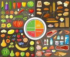sund mad vs junkfood sang produktset f 252 r gesunde lebensmittel stockvektor