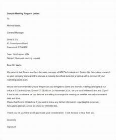 Sample Letter Requesting A Meeting Free Appointment Letters 35 Free Word Pdf Documents