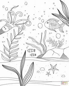 ausmalbild unterwasserwelt ausmalbilder kostenlos zum