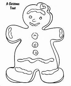 15 gingerbread templates colouring pages free