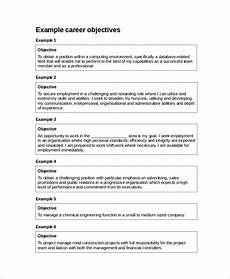 Career Objective For It Resume Free 10 Resume Objective Samples In Ms Word Pdf