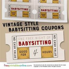 babysitting coupon templates vintage style free babysitting coupon template free