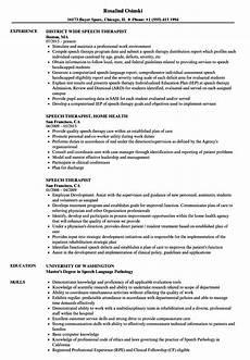 Speech Therapist Resume Speech Therapist Resume Samples Velvet Jobs