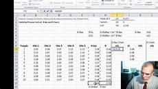 Xbar And R Chart Excel Xbar R Control Charts Youtube