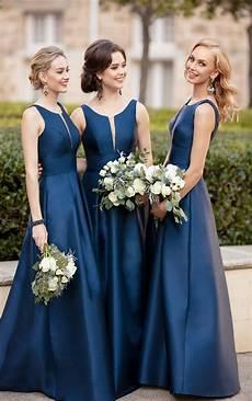 Light Navy Bridesmaid Dresses Classic And Simple Bridesmaid Dress Sorella Vita