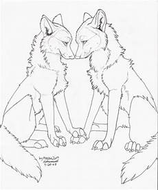 free to color only wolf lineart by natsumewolf on
