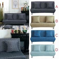 cod linen solid elastic fabric armless sofa bed cover