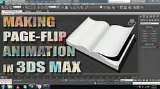 Flipping Pages Animated 3ds Max Tutorial Making Page Flipping Animation Youtube