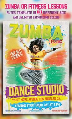 Free Zumba Flyer Templates Zumba Or Fitness Lessons Flyer Templates By Majkolthemez
