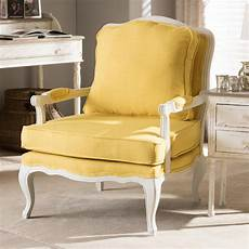 accent chair yellow baxton studio antoinette yellow fabric upholstered accent