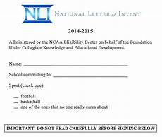 What Does A Letter Of Intent Look Like Leaked College Football S National Letter Of Intent