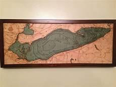 Lesser Lake Depth Chart 3d Woodcut Depth Map Of Lake Erie 2448x1836 Mapporn
