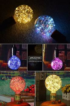 Red Fairy Lights Australia E27 110v 220v Retro Edison Fairy Led String Light Bulb Rgb