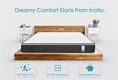 inofia 10 inch size memory foam mattress