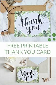 thank you card template wedding free free printable thank you botanical inspired card