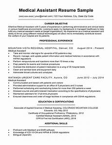 Career Objective Examples For Medical Assistant Medical Assistant Resume Sample Resume Companion