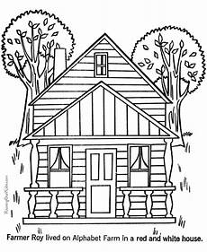 house coloring pages to download and print for free