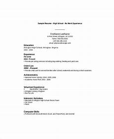 Resume Sample For High School Student No Experience 10 High School Student Resume Templates Pdf Doc Free