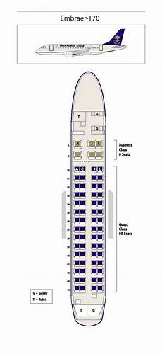 Lot Airlines Seating Chart Saudi Arabian Airlines Embraer 170 Aircraft Seating Chart
