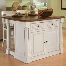 The Randall Portable Kitchen Island With Optional Stools Portable Kitchen Islands With Breakfast Bar Foter