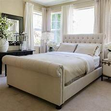 elements home furnishings upholstered sleigh bed