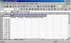 How To Create A Work Schedule On Excel Creating A Class Schedule Using Excel