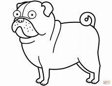 kleurplaten mops honden malvorlage hund bull terrier