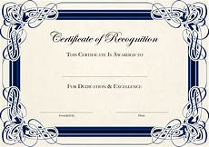 Free Template For Certificate Of Recognition 6 Best Images Of Create Awards Online Certificate