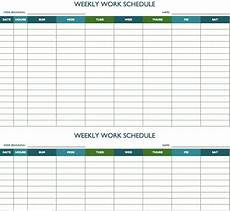 Free Weekly Work Schedule Template Excel Free Weekly Schedule Templates For Excel Smartsheet