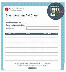 Bid Sheet Template Free 20 Silent Auction Bid Sheet Templates Amp Samples Doc