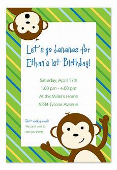 Monkey Birthday Invitations Favorite Monkey Birthday Invitations By Invitation