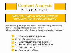 Content Analysis Example Content Analysis Educational Research Basics By Del Siegle