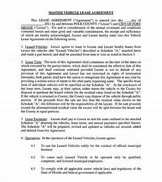 Vehicle Lease Agreement Sample Sample Vehicle Lease Agreement Template 14 Free
