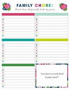 Weekly Chores Free Printable Weekly Chore Charts Family Chore Charts