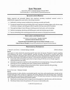 Resume For Restaurant Job Restaurant Server Resume Sample Monster Com