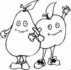 Ausmalbilder Apfel Und Birne Apfel Und Birne Ausmalbild Malvorlage Nahrung