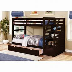 wildon home 174 cosmo bunk bed with trundle and storage