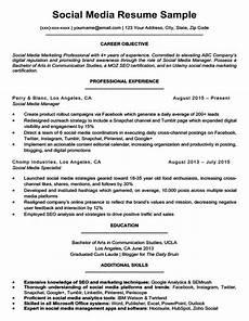Digital Media Resume Social Media Resume Sample Amp Writing Tips Resume Companion