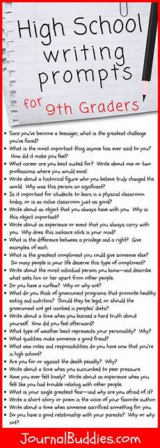 Example Essay Prompts 31 High School Writing Prompts For 9th Graders