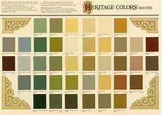 Heritage Paint Colour Chart Historic Paint Colors The Craftsman Blog