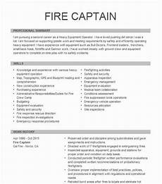 Fire Captain Resume Fire Captain Resume Example City Of Fort Lauderdale Fire