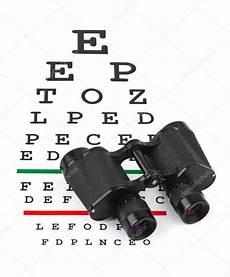 Binocular Size Chart Binoculars On Eyesight Test Chart Stock Photo 169 Violin