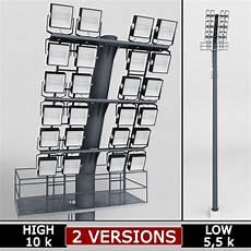 Small Stadium Lights 3d Model Stadium Light Lux Box Small Soccer Cgtrader